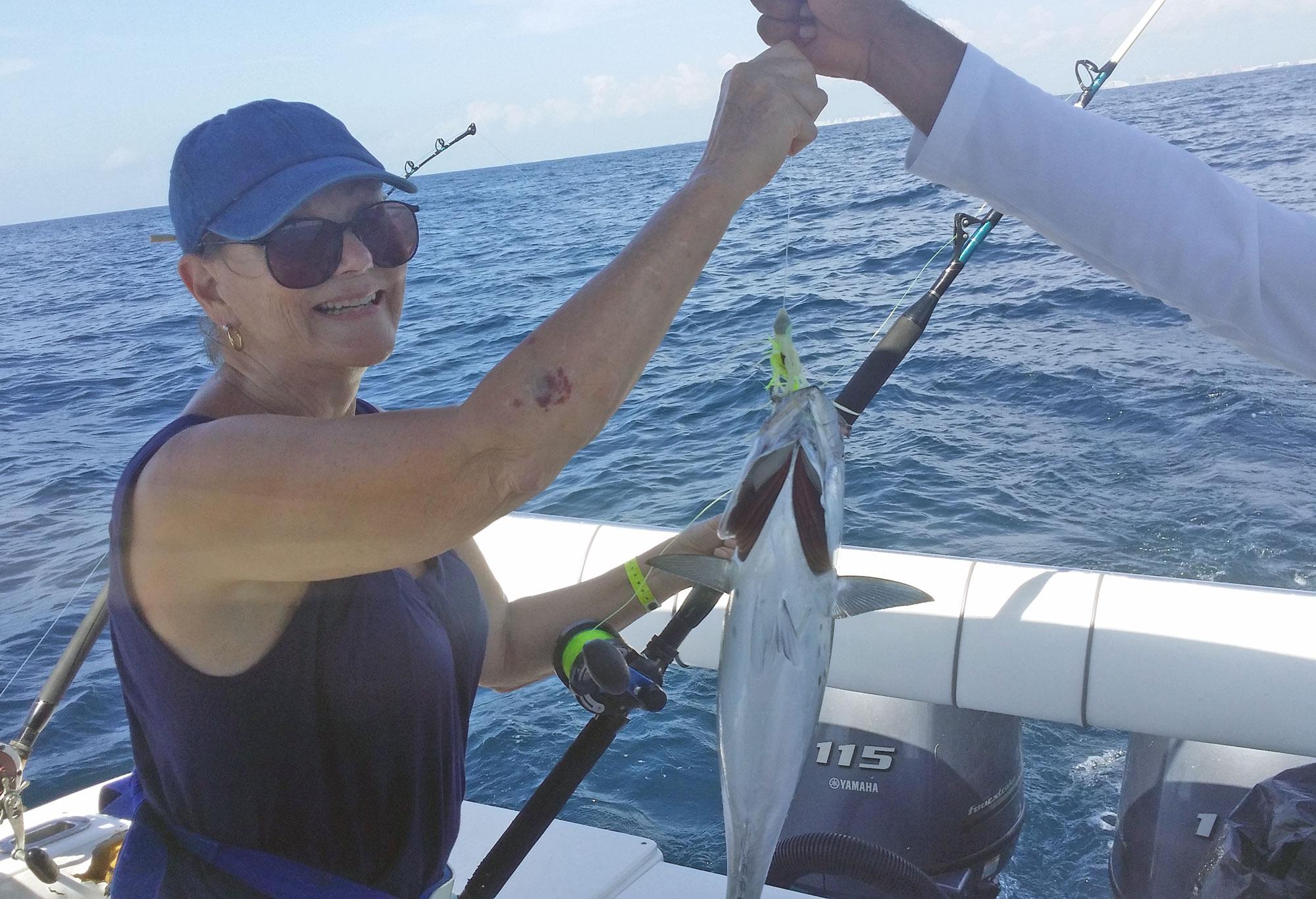 Mom Fishing in Cancun