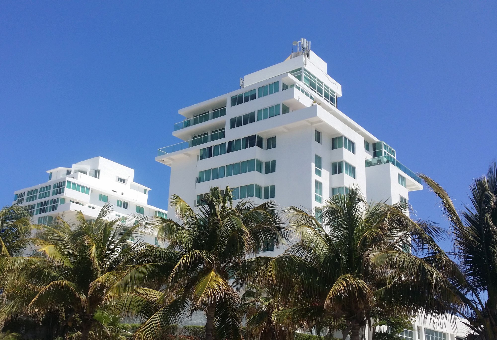 top of the penthouses in cancun