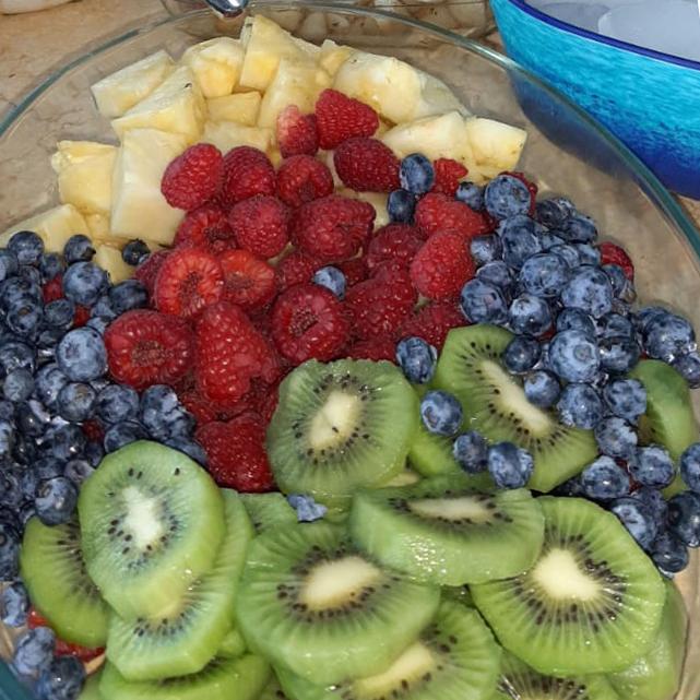 Fresh cut all organic in season fruit