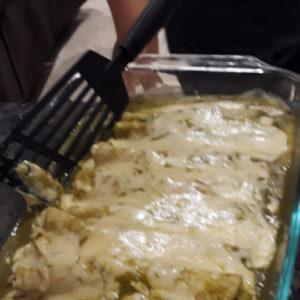home made green enchiladas