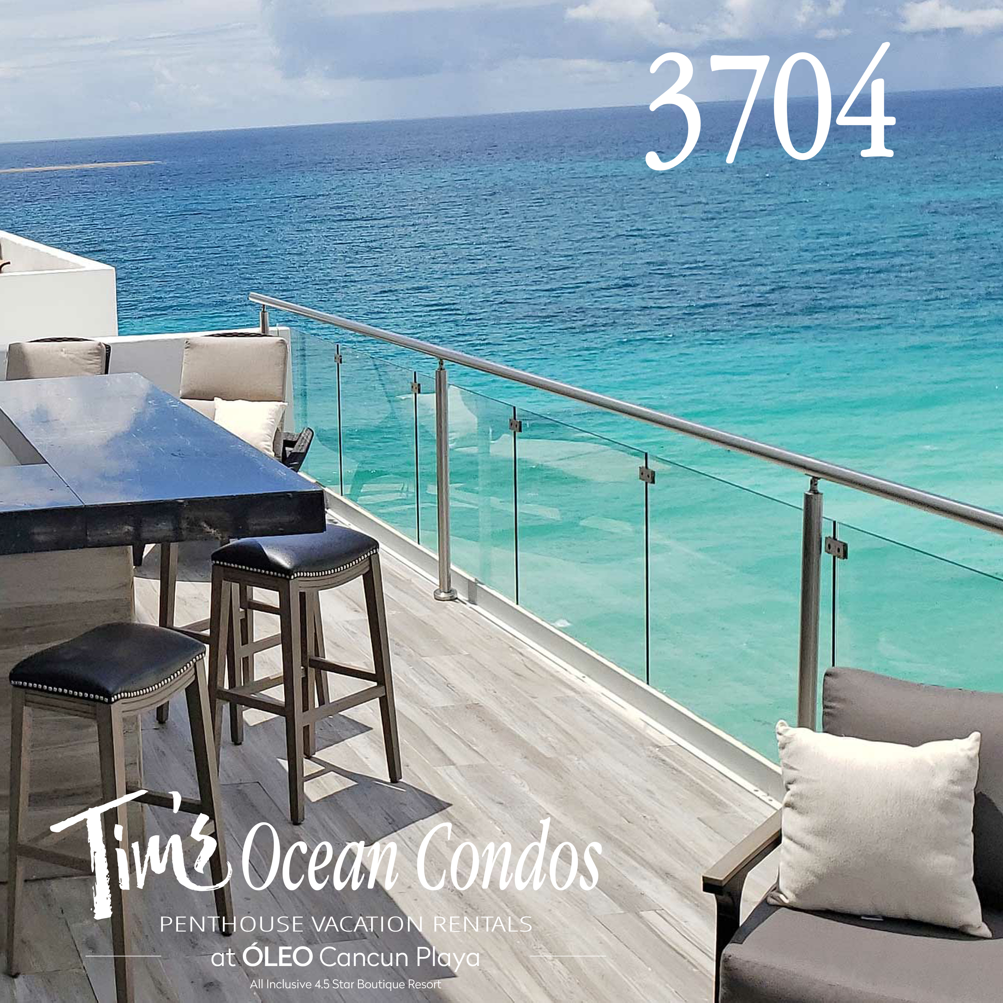 ocean front vacation rental with outdoor bar