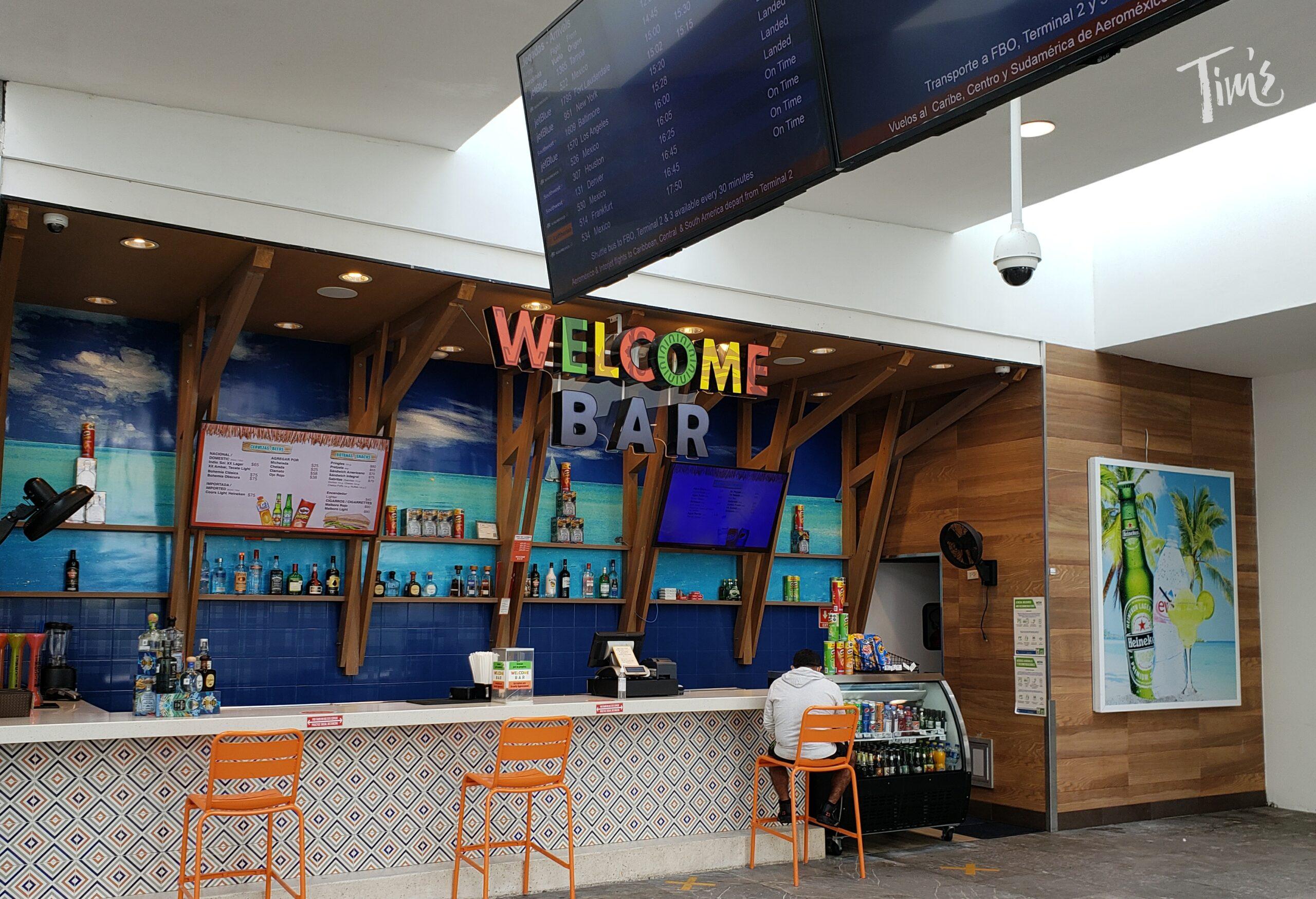 Welcome Bar in Cancun Mexico Terminal 4